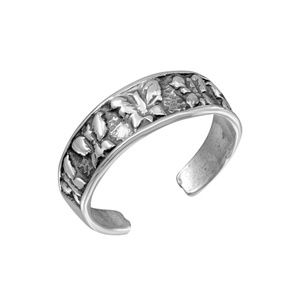 Sterling Silver 925 Multi Butterfly Toe Ring